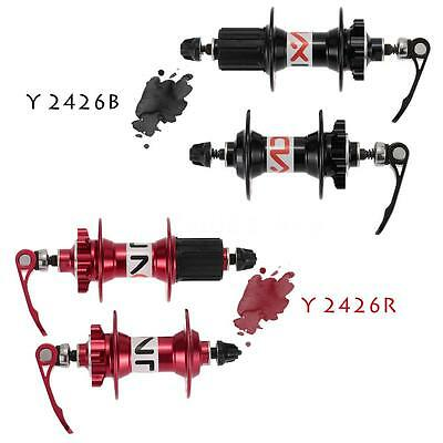 Bike Bicycle 32H Disc Front / Rear Brake Hub Set Quick Release Lever Skewer X8W6
