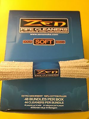 3x Bundles 132 Count ( Zen SOFT Pipe Cleaners ) Absorbent Bristle