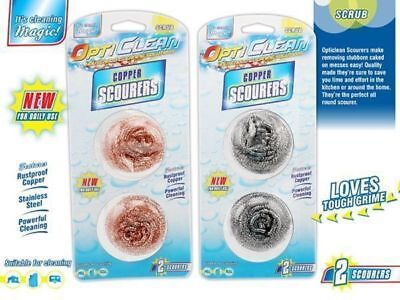 12 x Opti Clean Scourer Twin Packs Copper & stainless steel Cleaning