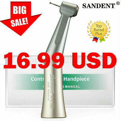 Dental LED Contra Angle E-generator Optic Low Speed Handpiece Inner Water Spray