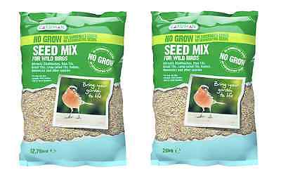 No Grow Seed Mix 12.75/20kg Wild Birds Food for Garden Outdoor Feeders Oil Rich