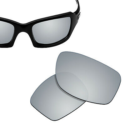 Polarized Replacement Lenses for-OAKLEY Fives Squared Sunglasses Silver Titanium