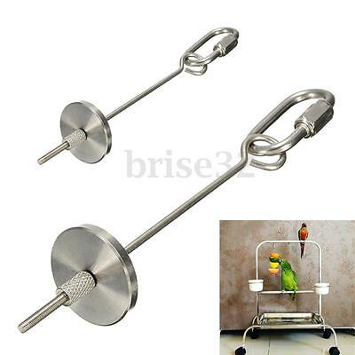12/20Cm Stainless Steel Small Parrot Toy Kabob Food Stick Scooter Fruit Skewer