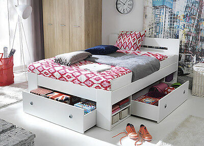 Brand Modern Bedroom Furniture Set | Double Bed & Wardrobe NEPO