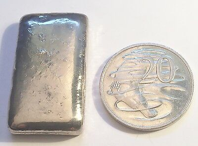 """NEW"" 2 OZ 999.0 Pure BISMUTH SPM Bullion "" Chunky Style"" Ingot (Great Invest) b"