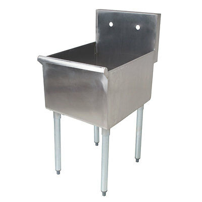 """Regency 18"""" 16-Gauge Stainless Steel One Compartment Commercial Sink 600S11821B"""