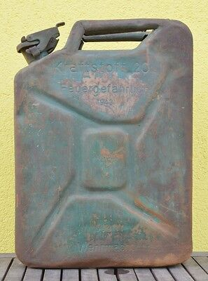 German Wwii Wehrmacht Combat Jerry Can / Gas Can 1943  War Relic