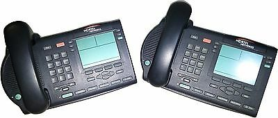 Nortel Meridian M3904 Digital Corded Phone Charcoal (LOT OF 2) WITHOUT CORDS