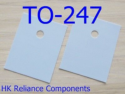 Silicone Rubber Sheet TO-247 20x25mm Insulator for Transistor Heatsink 50 pcs
