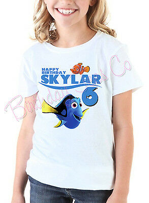 Personalized Finding Nemo Birthday T-Shirt Custom Name and Age Finding Dory Tee