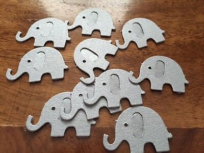 50 Pearlised silver Table Confetti CHRISTENING BABY SHOWER ELEPHANT Decorations