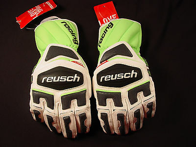 Reusch Ski Competition Racing Giant Slalom Leather Gloves Race Tec 14 4411111INV