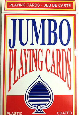 New JUMBO LARGE Plastic Coated Playing Cards Magic Tricks Games Casino