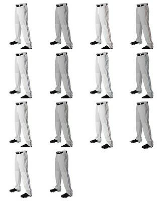 Alleson Athletic Youth Boys Open Bottom Baseball Pants W/ Piping Braid 605WLBY