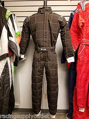 Sparco/Lico  Go Kart Racing Suit FIA Black 2 Layer  Size X Large  [In the USA]