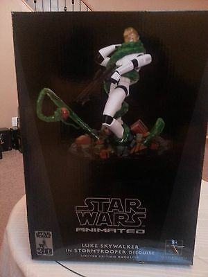 Gentle Giant Star Wars Animated Luke Skywalker in Stormtrooper Disguise PROMO