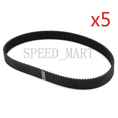 5 PCS 240-3M HTD Timing Belt 80 Teeth Cogged Rubber Geared Closed Loop 8mm Wide