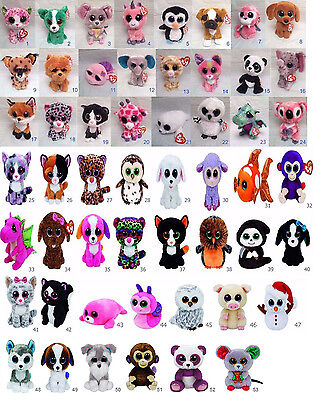 Choose Ty Beanie Boo Plush Stuff Animal New With Tag Boos