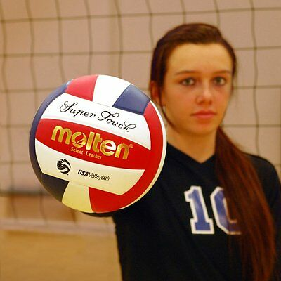 Molten Super Touch Volleyball (Red/White/Blue, Official)