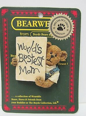"""Boyd's #82531 * Bearware Pin * """"Lil' Tot....Guess Who Loves You?"""" * Brand New"""