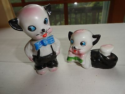 Wonderful Vintage Pair Of Cat Salt And Pepper Shakers - From Japan