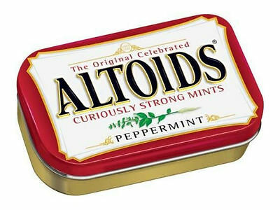 Original Altoids Curiously Strong Tasty Mints - Peppermint Flavor 1 x Container