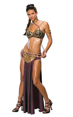 Licensed Princess Leia Slave Outfit Star Wars Adult Womans Fancy Dress Costume