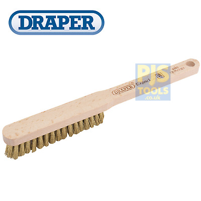 Draper 65670 9in small brass wire hand brush spark plug cleaner  *Free postage*