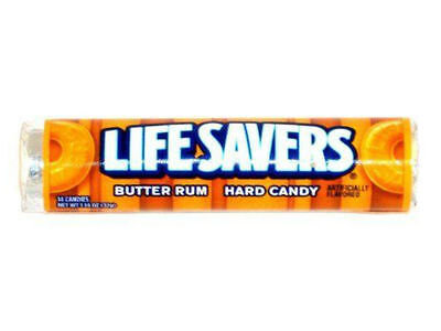 Lifesavers Butter Rum Flavour Hard Retro Candy - Brand New