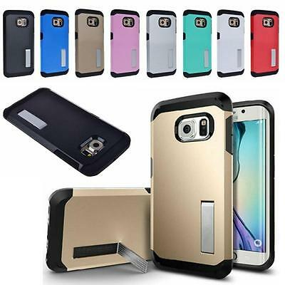 Slim Shockproof Hybrid Rugged Stand Cover Case Armor For Samsung Galaxy S7 Edge