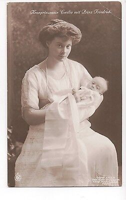 Vintage Postcard Crown Princess Cecile of Prussia & Germany with Children