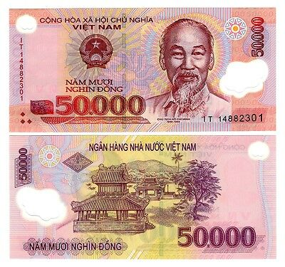Vietnam 50,000 Dong Uncirculated Note