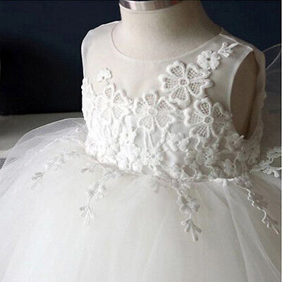 Baby Girls Baptism Princess Dresses Toddler Dress Christening Embroidered Floral