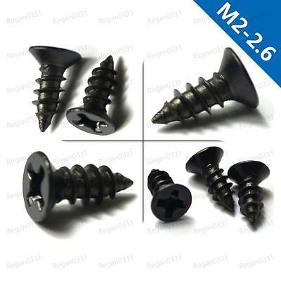 M2/M2.6 Black Oxide Phillips Cross recessed Countersunk Head Self Tapping Screws