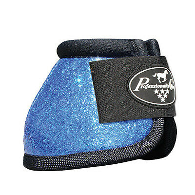 Professionals Choice Overreach Bell Boots - Glitter Blue - Large