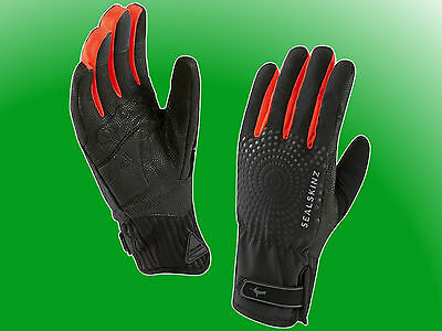 All Weather Cycle XP Glove red - Seal Skinz wasserdichte/wasserfeste Handschuhe
