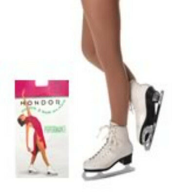 NEW Mondor 3310 Ice Roller Skating Tights Footed Performance Suntan