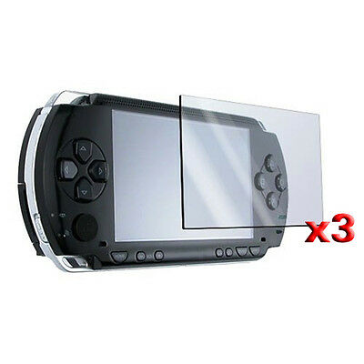 3 Screen Protector + Cloth + For SONY PSP BF