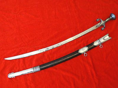 SUPERB ISLAMIC SWORD AFGHANISTAN MAGNIFICENT BLADE Indo Persian dagger silver