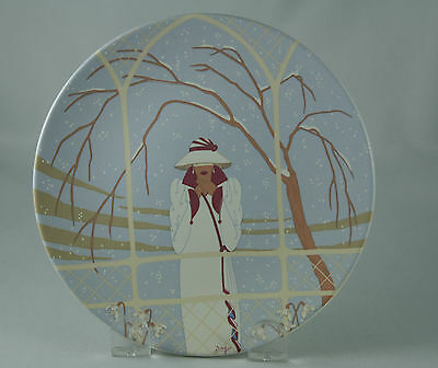 Vintage Poole Pottery Decorative Plate Art Deco Winter 449 England