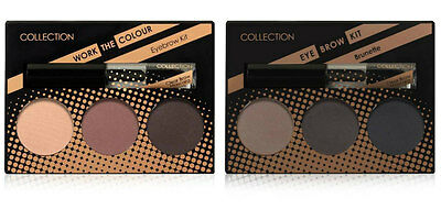 COLLECTION EYEBROW KIT 3 Shades Clear Brow Gel Mascara & Brush BRUNETTE / BLONDE