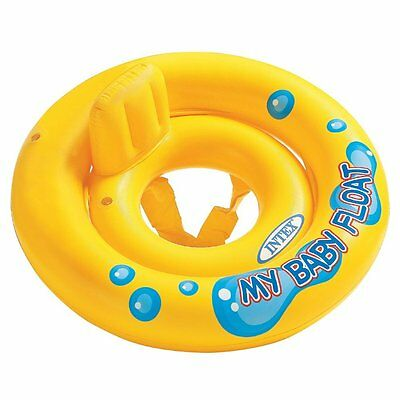 Intex Yellow L Ring my Baby Infant Kids Float Raft Learn  Swim Safety Pool Party