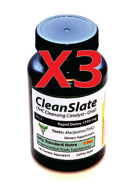 (3) Bottles 2 Day Rapid THC Remover Cleanse & Detox - Fast Acting Detoxification