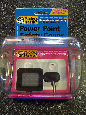 2 X Micky Ha Ha Power Point Safety Cover NEW Double Single Twin