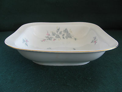Mid Century Fein Bayreuth Sophienthal Square Serving Bowl Pink & Gray Floral