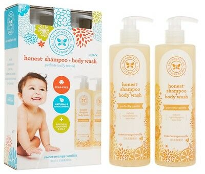 New The Honest Company Shampoo and Body Wash 17oz., 2-pack * Fast Shipping*