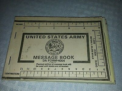 US Army Message Book