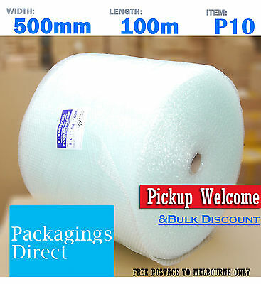 Melbourne Delivery: 12 x Roll Bubble Wrap 500mm x 100M P10 Clear 10mm BubbleWrap