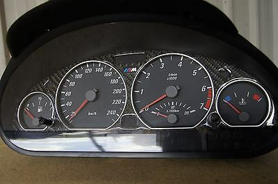 BMW E46 3 Series M-Spec Instrument Cluster - 6 Cylinder Manual 320 323 325 328