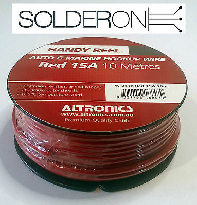 Auto and Marine Hookup Wire Black or Red, 10 Amp or 15 Amp